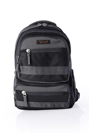 YOUNG Unisex Siyah 51293 Laptop Bölmeli Sırt Çantası