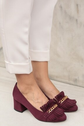 Mio Gusto Sharon Bordo Topuklu Ayakkabı