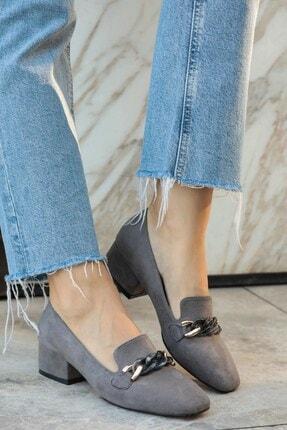 Mio Gusto Magnolia Gri Topuklu Ayakkabı