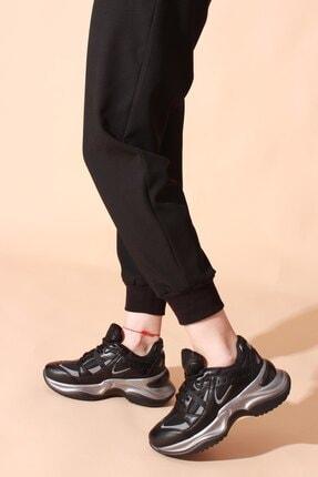 Rovigo Kadın Siyah Platin Spor Sneaker