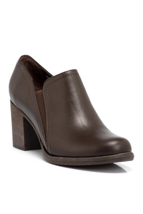 Tergan Kadın Kahverengi Deri Ayakkabı
