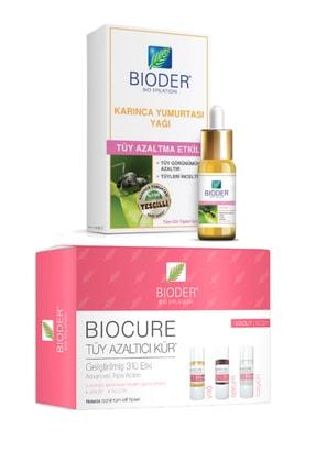 Bioder Tüy Azaltma Etkili Karınca Yumurtası Yağı 30ml Tüy Azaltıcı Vücut Serum 3x10ml