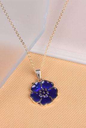 Ejoya Lacivert Çiçek Kolye 90992