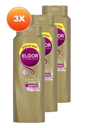 Elidor Saç Dökülmesine Karşı Bakım Saç Bakım Şampuanı 650 Ml. Üçlü Set