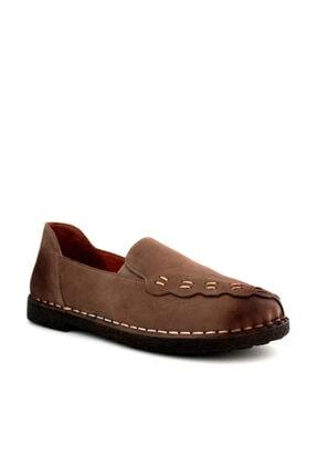 Beta Kadın Hakiki Deri Ayakkabı Nubuk Vizon