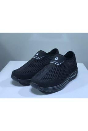 Letoon Kadın Siyah Fileli Bağcıksız Spor Ayakkabı