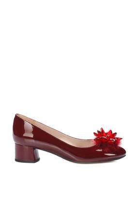 İnci Bordo Kadın Klasik Topuklu Ayakkabı 120130008699
