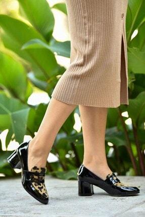 Mio Gusto Brenda Leopar Topuklu Ayakkabı