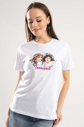 Y-London Kadın Beyaz Baskılı T-Shirt Y20S145-SA039