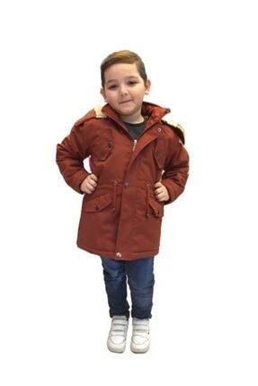 Nacar  Unisex Çocuk Kahverengi Kapüşonlu Mont