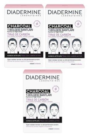 Diadermine 3'lü Kömürlü T-bölgesi Bantları