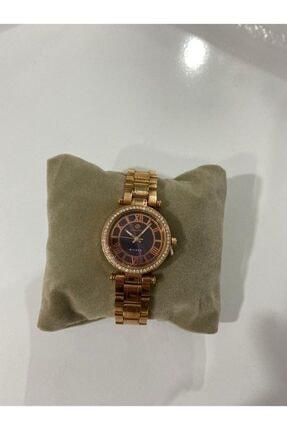 Bigotti Milano Kadın Bronz Taşlı Kasa Metalik Kordonlu Saat