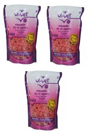 Vi-Vet Soyulabilir Pudralı Granül Boncuk Ağda 3 Adet