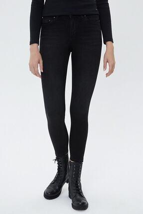 Loft Kadın Siyah -Günlük Siyah Skinny Fit Jeans