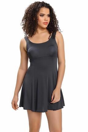 Armes Kadın Gri Etekli Elbise Mayo 9003-18