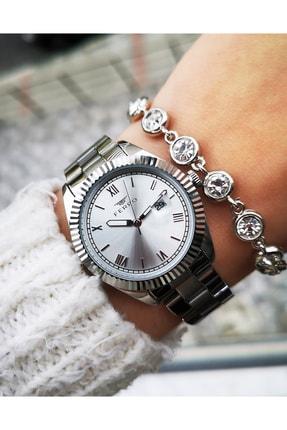FERRO Yeni Sezon Çelik Şık Bayan Saati Bileklik Hediyeli