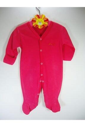 Sema Bebe Kendinden Eldivenli Düz Renk Bebek Tulum Sematlm02