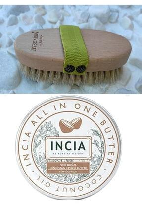 Incia Incıa %100 Doğal Hindistan Cevizli Butter 50 Ml + Doğal At Kılı Fırçası