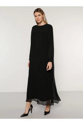 Alia Kadın Siyah Pilise Detaylı Elbise