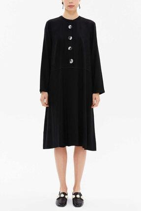 Societa Kadın Siyah Düğmeli Bol Kesim Elbise 92648