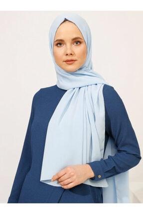 Tuva Kadın Krinkıl Medine İpeği Şal Bebe mavisi 724831