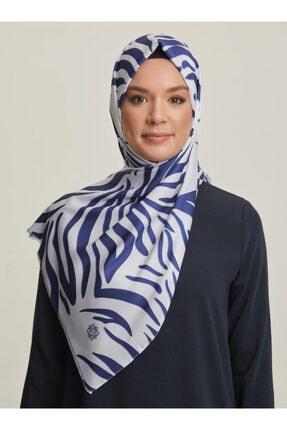 Tuva Kadın Mavi Desenli Şal Karisik 1238648