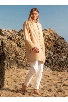 Alia Kadın Taş Doğal Kumaşlı Düğme Detaylı Ceket 1462207