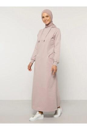 Everyday Basic Kadın Mor Kapüşonlu Elbise 1686563