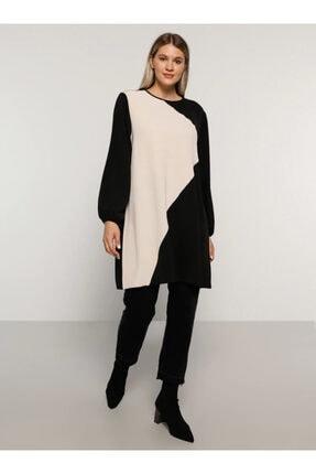 Alia Kadın Siyah İki Renkli Tunik 1693765