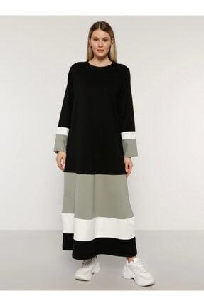 Alia Kadın Siyah Garnili Elbise 1691003