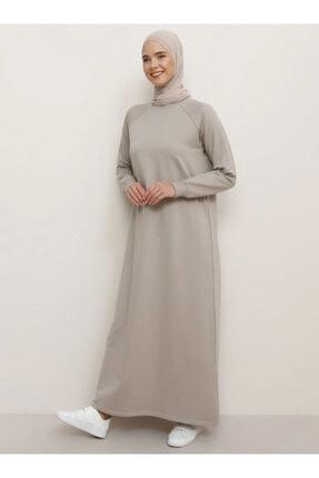 Everyday Basic Kadın Vizon Düz Renk Spor Elbise 1675234