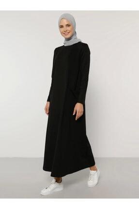 Everyday Basic Kadın Siyah Cep Detaylı Elbise 1686416