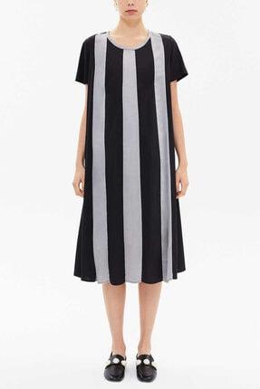 Societa Kadın Kontrast Renkli Bol Kesim Elbise
