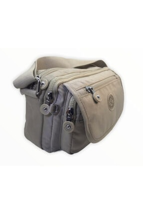Smart Bags Kadın Bej Krinkıl Kumaş Çapraz Çanta Smb1189