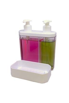 Twin Ikili Sıvı Sabunluk Ve Süngerlik Beyaz rn-tww