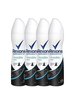 Rexona Invisible Aqua 150 Ml Deodorant X4