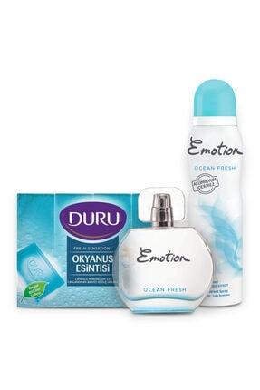 Emotion Ocean Fresh Edt 50 ml Kadın Parfüm +150 ml Deodorant + 4x150gr Okyanus Ferahlığı Sabun 1742751043430