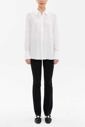 Societa Kadın Beyaz Şık Salaş Gömlek 10746