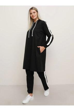 Alia Kadın Ekru Doğal Kumaşlı Spor Tunik&Pantolon İkili Spor Takım 1728828