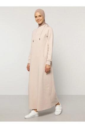 Everyday Basic Kadın Bej Kapüşonlu Elbise 1686562