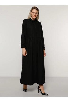 Alia Kadın Siyah Bebe Yaka Elbise 1686403