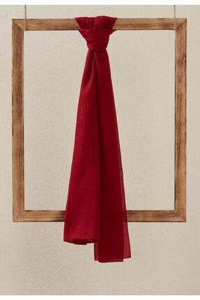 Setrms Kadın Kırmızı Monogram Şal