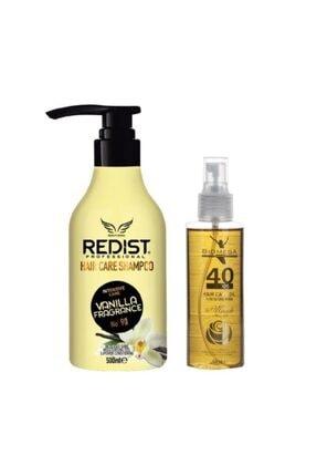 Redist Vanilya Şampuan 500 Ml+40 Bitkili Bakım Yağı 150 Ml