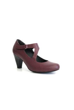 Beta Kadın Hakiki Deri Topuklu Ayakkabı Bordo
