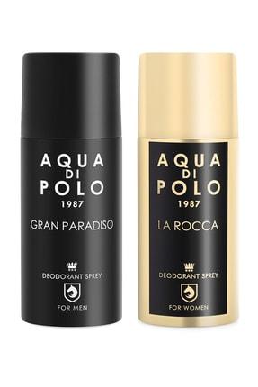 Aqua Di Polo Aqua Di Polo 2'li Parfümlü Deodorant Seti Kadın Ve Erkek 300 Ml Stcc000901