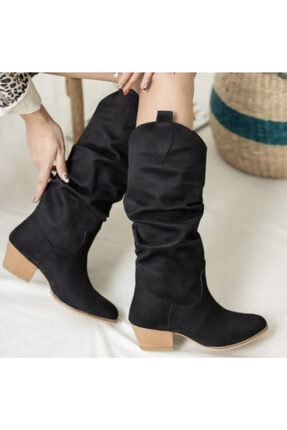 Kadın Siyah Çizme Körüklü çizme