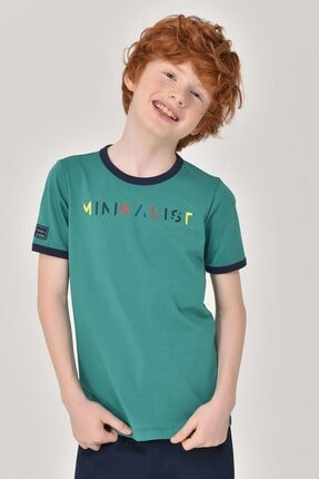 Bilcee Yeşil Unisex Çocuk T-Shirt GS-8192