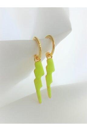 Accessories Kadın Şimşek Figürlü Yeşil Havai Küpe