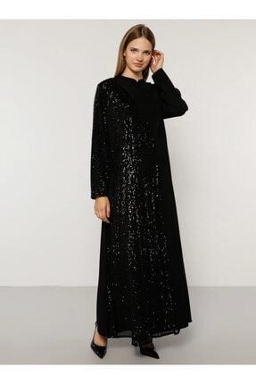 Alia Kadın Siyah Payetli Abiye Elbise