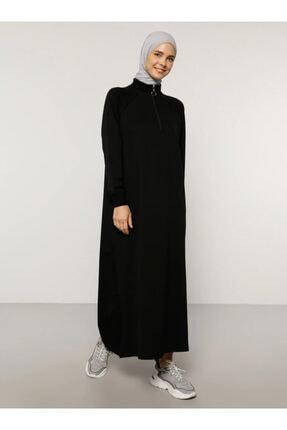 Everyday Basic Kadın Siyah Fermuar Detaylı Spor Elbise 1668997